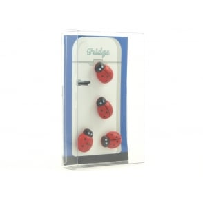 Pack of 4 Ladybird fridge magnets