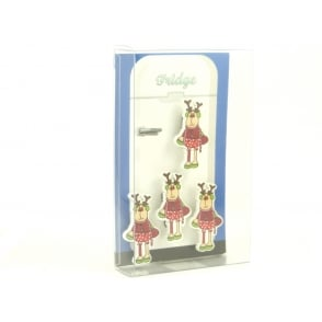 Reindeer fridge magnets - box of 4
